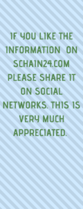IF YOU LIKE THE INFORMATION ON SCHAIN24.COM PLEASE SHARE IT ON SOCIAL NETWORKS. THIS IS VERY MUCH APPRECIATED.